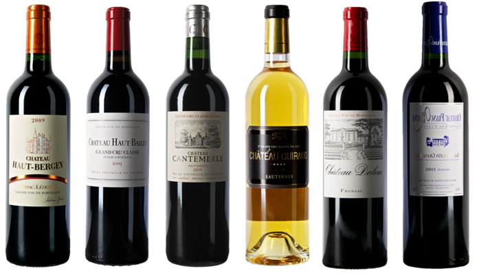 Bordeaux bottles